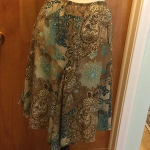 B.Moss Tailor pull on skirt lined small